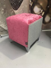 Stunning sparkle Lipstick Pink crushed velvet with silver disco glitter cube