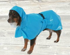 Dog Raincoat with Tummy Panel and Hood, Unlined