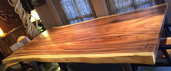 Shop Monkey Wood Slab Dining Table 96 X 48