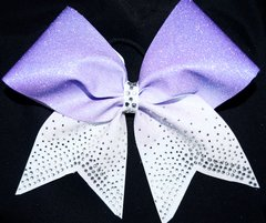 Falling Rhinestone Ombre Cheer Bow