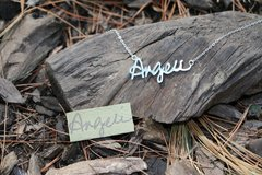 Personalized Signature Necklaces and KeyChains (Your hand writing)
