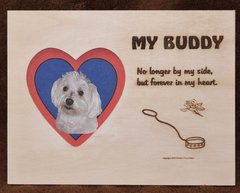 Loss of Dog - Empty Leash Plaque with Picture