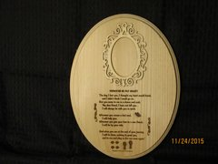 Loss of Pet - Memorial Poem Plaque with Picture