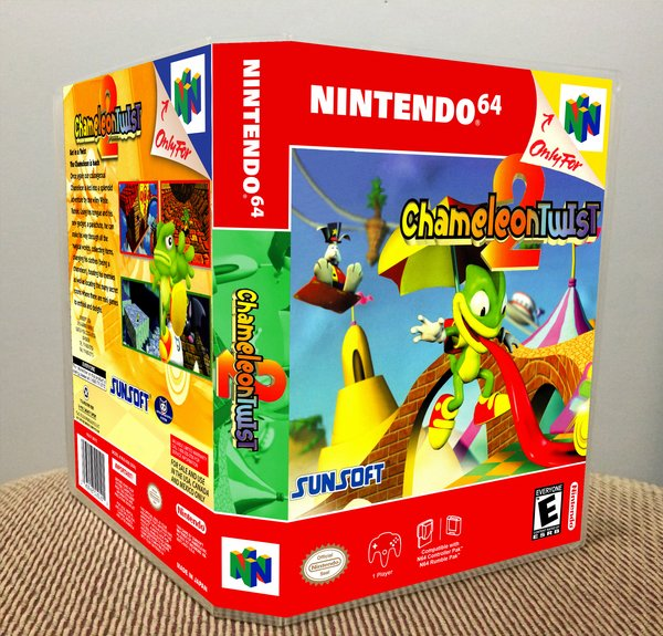 Chameleon Twist 2 N64 Video Game Case