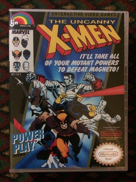 The uncanny x men nes game case game case king custom game cases