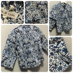 Babe & Tess Water Flower Shirt Size:12M