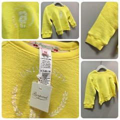 Bonpoint Yellow League Sweater Size:18M