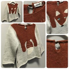 Oeuf Wolf Love Sweater Size:2