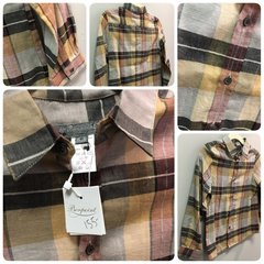 Bonpoint Plaid Earth Button Down Size:6