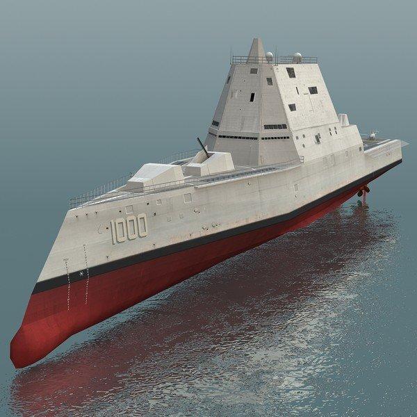 196 75 DDG 1000 USS Zumwalt Guided Missile Destroyer