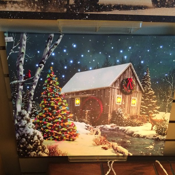 Lighted LED Old Mill Canvas Gift Shops
