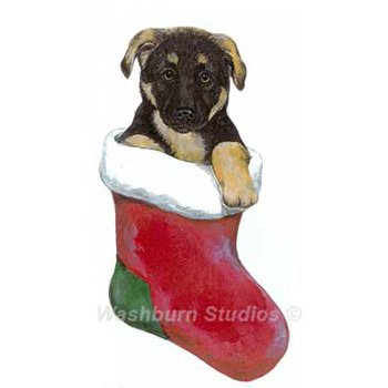German Shepherd Puppy Christmas Ornament D W Possum