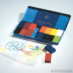 Stockmar Wax Blocks - 16 colours in metal case
