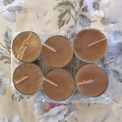 Beeswax tea lights candles 6 per pack