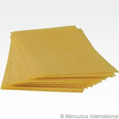 Beeswax honeycomb sheets 19.5 x 33.5 cm (approx 19 sheets)