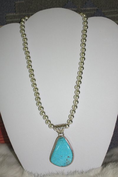 Kingman Turquoise Necklace - N216 - SOLD