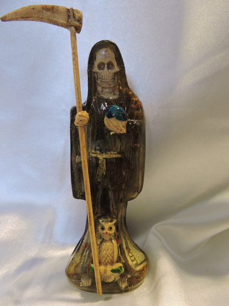 Santa Muerte Negra Transparentes - Black Transparent Holy Death