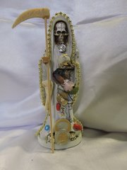 Santa Muerte Vestida Blanca - Holy Death With Withe Dress