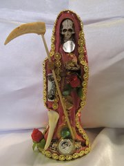 Santa Muerte Vesitida De Rosa - Holy Death With Pink Dress