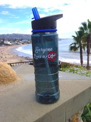 Everyone Loves a Caligirl Blue Water Bottle