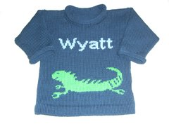 Personalized Iguana Pullover