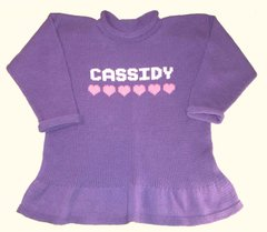 Personalized Name Ruffled Tunic with Hearts