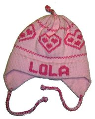 Personalized Heart Earflap Hat