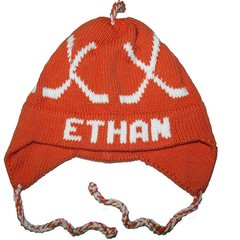 Personalized Hockey Earflap Hat