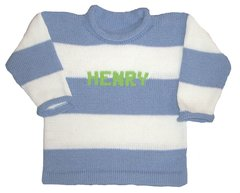 Rugby Striped Name Pullover