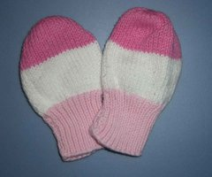 3 Color Rugby Striped Mittens