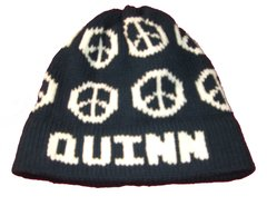 Personalized Hat with Peace Signs