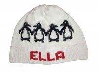 Personalized Holiday Penguins Name Hat