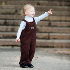 Bibbed Corduroy Overalls for Baby Boy