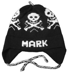 Personalized Skull Earflap Hat