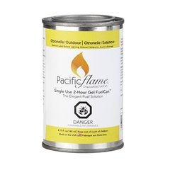 Pacific Flame 2-Hour Citronella Gel Fuel-12 Can Pack