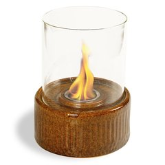 "12"" High X 8"" Diameter Spice Base/Glass Fireplace"
