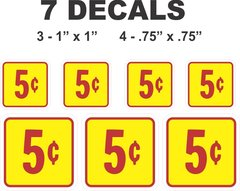 5 Cent Decal For Sale  Collectibles Everywhere
