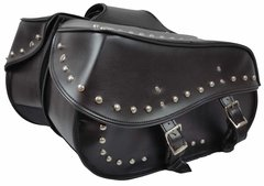 "Large 2 Strap Studded Saddle Bag 18"" X 11"" X 6.5"""