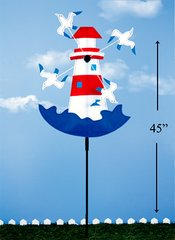 Lighthouse with Seagull Wind Spinner (12 PCS SET)