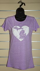 Michigan Heart Crew Neck Tee (Hot Violet)