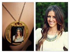 Locket Necklace Selfie