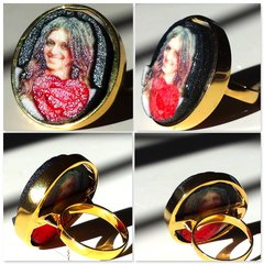 Murcian@ Ruby Premium Gold Ring Selfie