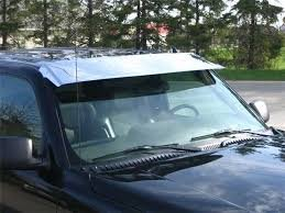 Stainless Steel Pick Up Visor Big Daddys Chrome Is An