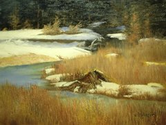 Beavers' Den in Winter - SOLD