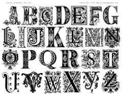 1031 Ornate Alphabet Printable