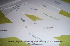 French / English Flash cards