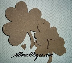 3 Shamrocks with a Heart