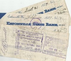 Vintage cancelled checks (3)