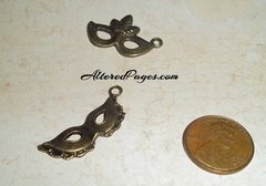 Bronze Mask charms (3)