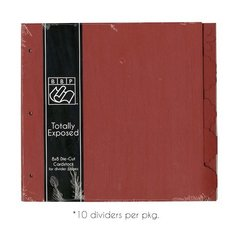 8 x 8 Chipboard Pages Ruby Red